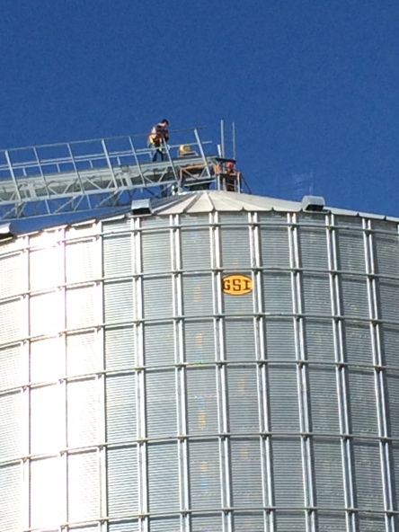 Joe and Philip setting up the Wiota, WI RTK Tower