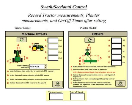 Sectional Control Info