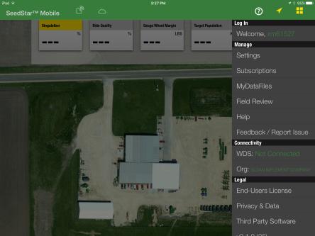 SeedStar Mobile Home Screen