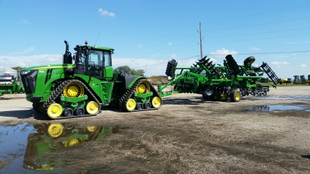 231 hours in the cab of Deere's new 9620RX 4-Track Tractor